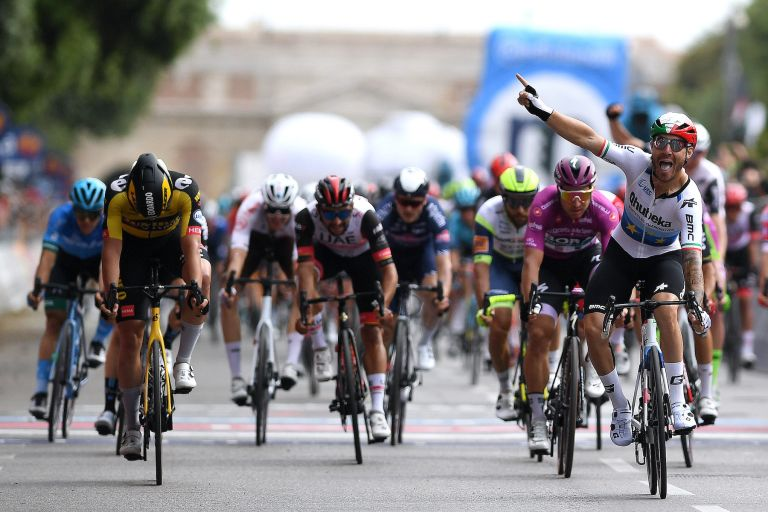 The finish of stage 13 of the Giro d'Italia