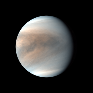 An image of the cloudtops of Venus as photographed by Akatsuki's ultraviolet instrument in 2019.