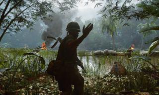 A soldier beckoning players towards a premium battle pass.