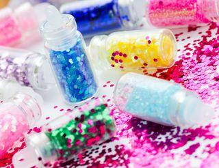 Bottles of glitter