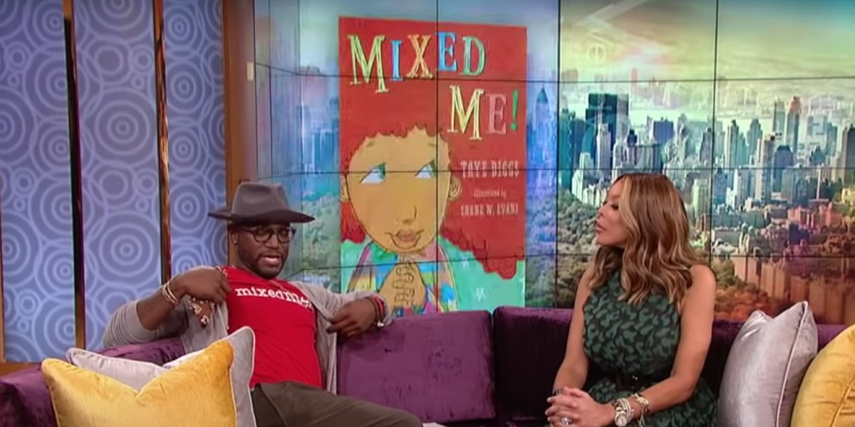 Taye Diggs promoting Mixed Me! on The Wendy Williams Show