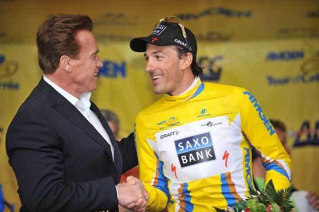 Fabian Cancellara Arnold Schwarznegger Tour of California prologue