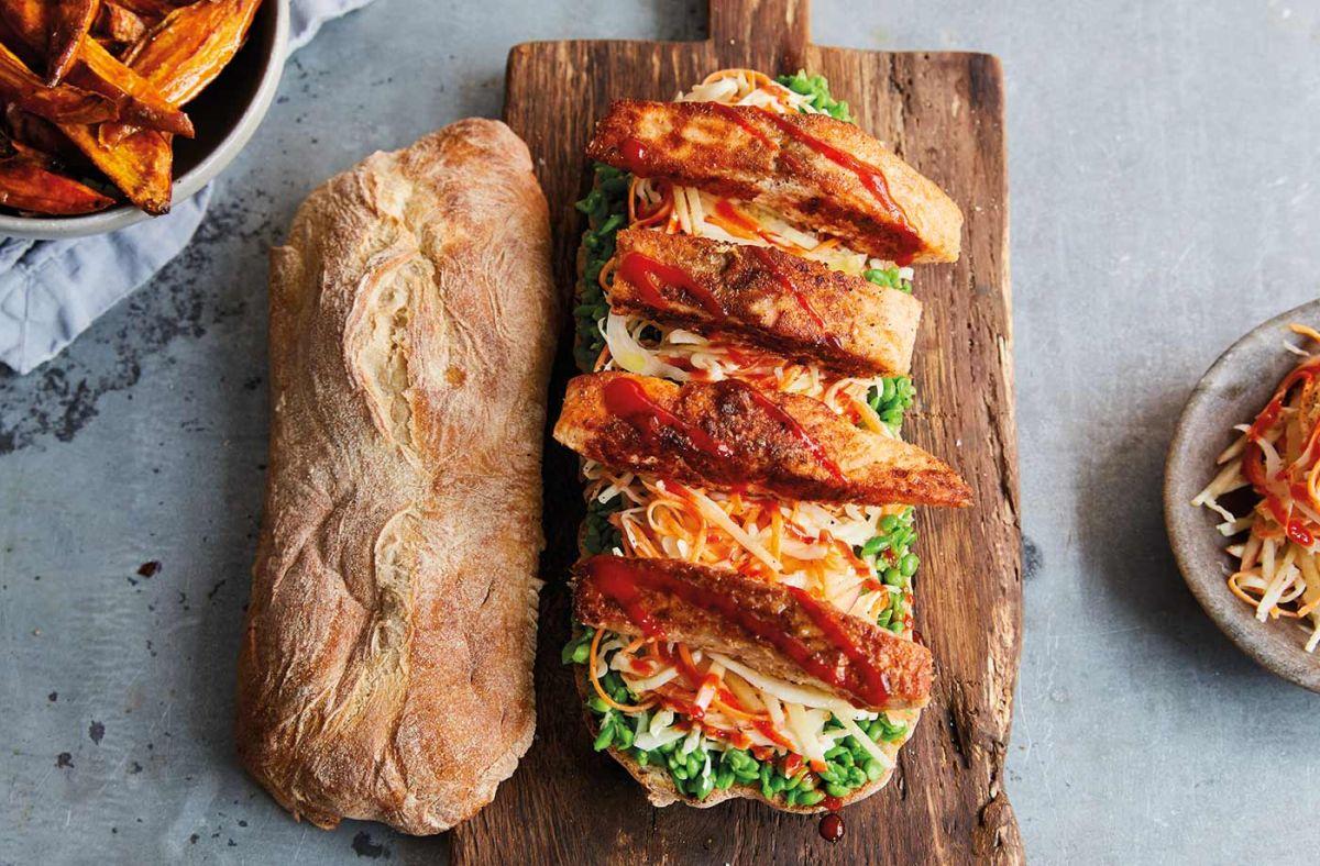 Jamie Oliver's fish finger sandwich