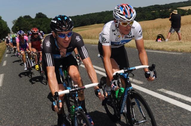 Bradley Wiggins and Geraint Thomas Tour de France 2010 stage 5