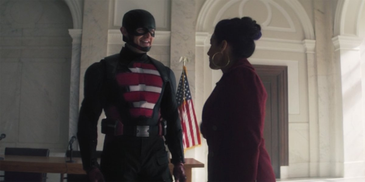 US Agent with Val The Falcon And The Winter Soldier