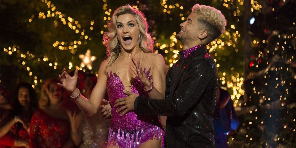 Lindsay Arnold and Jordan Fisher on Dancing With the Stars.