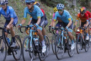 Astana's Miguel Angel Lopez rode to fourth place – and moved up to fourth overall – on stage 15 of the 2020 Tour de France