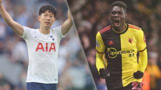 Tottenham Hotspur vs Watford live stream - Son Heung-Min of Tottenham Hotspur and Ismaila Sarr of Watford