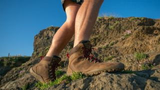 Best hiking boots: the Vivobarefoot Tracker FG in action