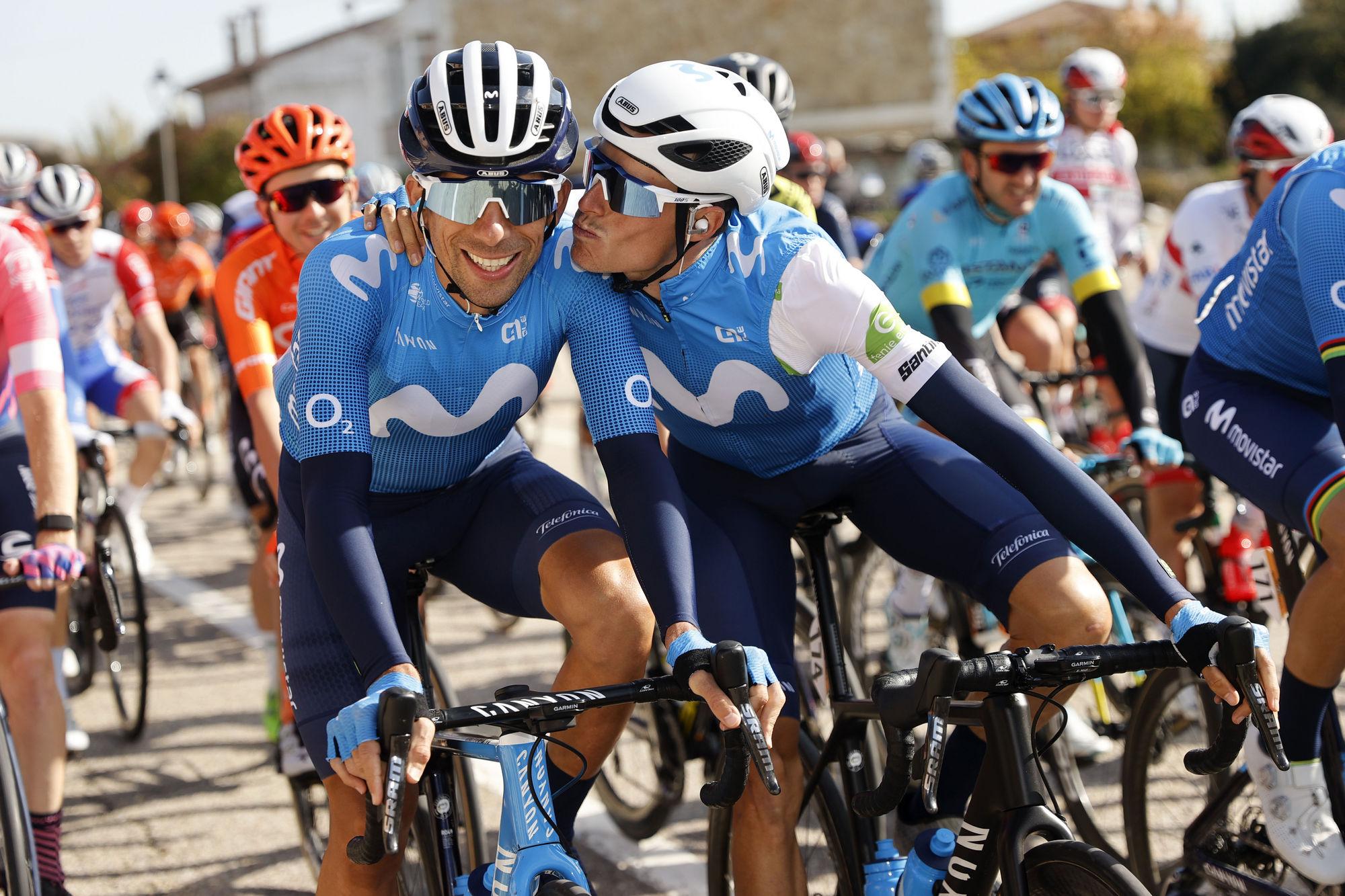 Cycling: Vuelta España 2020 / Tour Spain 2020 / 9 Etapa / 9 Stage / BUNCH / PELOTON / OLIVEIRA, Nelson (POR) MAS, Enric (ESP) / Castrillo del Val - Aguilar de Campo (163,6 km) 29-10-2020/ Cycling: Vuelta España 2020 / Tour Spain 2020 / 9 Etapa / 9 Stage / ©PHOTOGOMEZSPORT2020