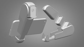Concept renders of Canon patent for phone camera accessory