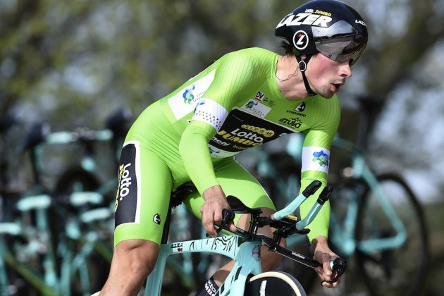 time trial performance to lead tour