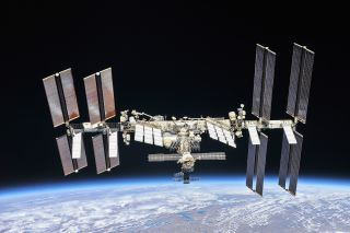The International Space Station, as seen in October 2018.