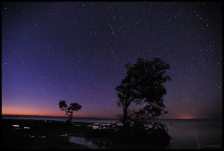 Photographer Jeff Berkes captured several Quadrantid meteors in this long-exposure image taken in the Florida Keys on Jan. 2, 2012 during the annual Quadrantid meteor shower the 2012 Quadrantid meteor shower. The 2015 Quadrantid meteor shower display will