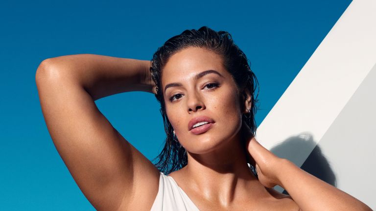 Ashley Graham pictured in the 2021 St Tropez campaign