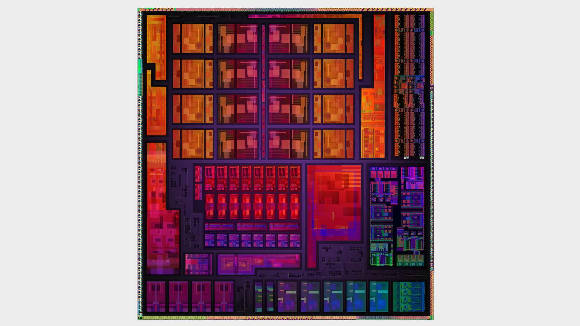 AMD monolithic APU die shot