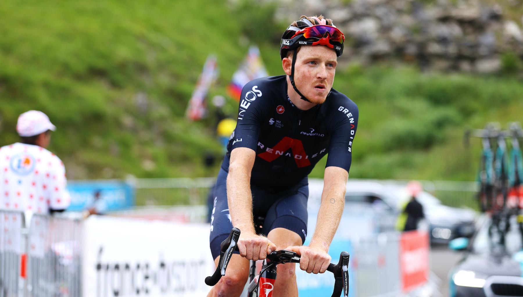 Tao Geoghegan Hart at the Tour de France 2021