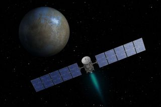 Artist's Concept of Dawn Spacecraft at Ceres