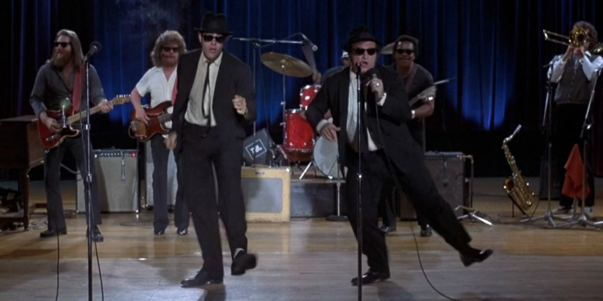The Blues Brothers perform