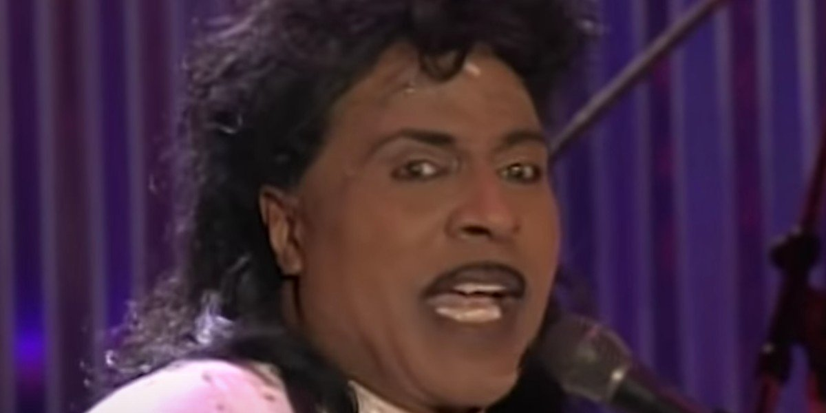 Little Richard during a live performance