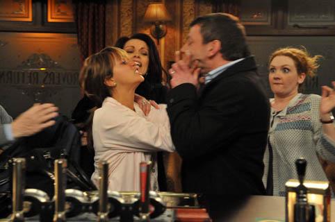 Maria attacks Tony - in her nightie!