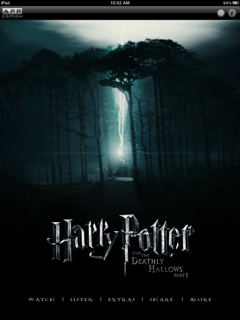 Deathly Hallows Part 1, Due Date Added To Warners App Store #17179