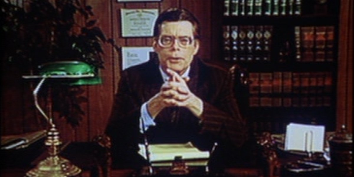 Stephen King lawyer in ad from Kingdom Hospital
