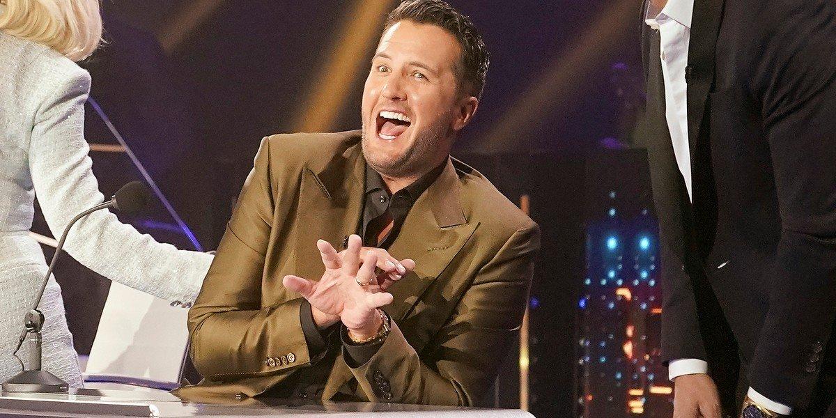 Luke Bryan looking shocked American Idol ABC
