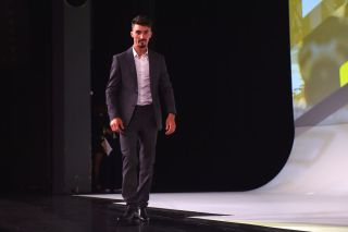 Julian Alaphilippe at the Tour de France 2020 presentation in Paris