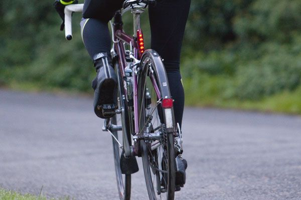 Mudguards help when cycling in the rain