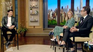'Live with Kelly and Ryan' welcomes new dad Henry Golding.