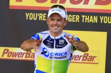 Simon Gerrans (Orica GreenEdge) happy with his Tour stage win