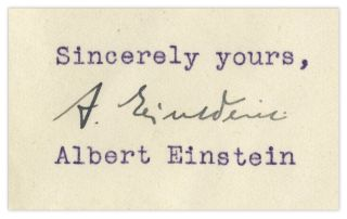 Einstein's signature.
