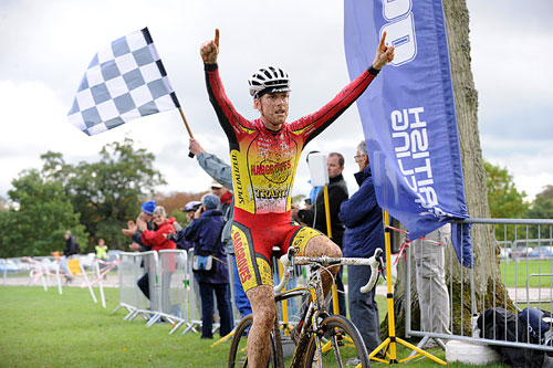 Stuart Bowers, cyclo-cross winner, Bike Blenheim Palace 2010