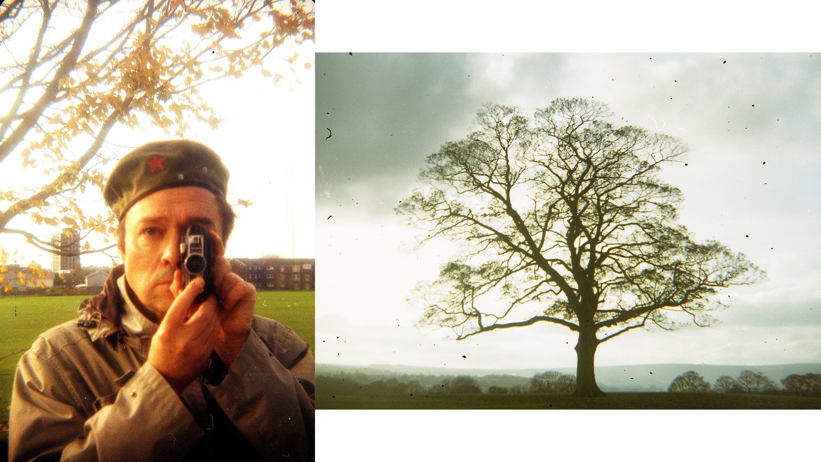 Self portrait photo and photo of a tree taken on the Durst Duca camera