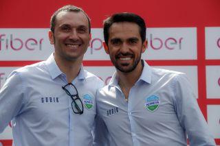Ivan Basso and Alberto Contador