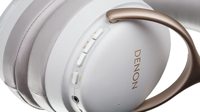 Denon AHGC30 Premium Wireless Noise Cancellation Headphones White