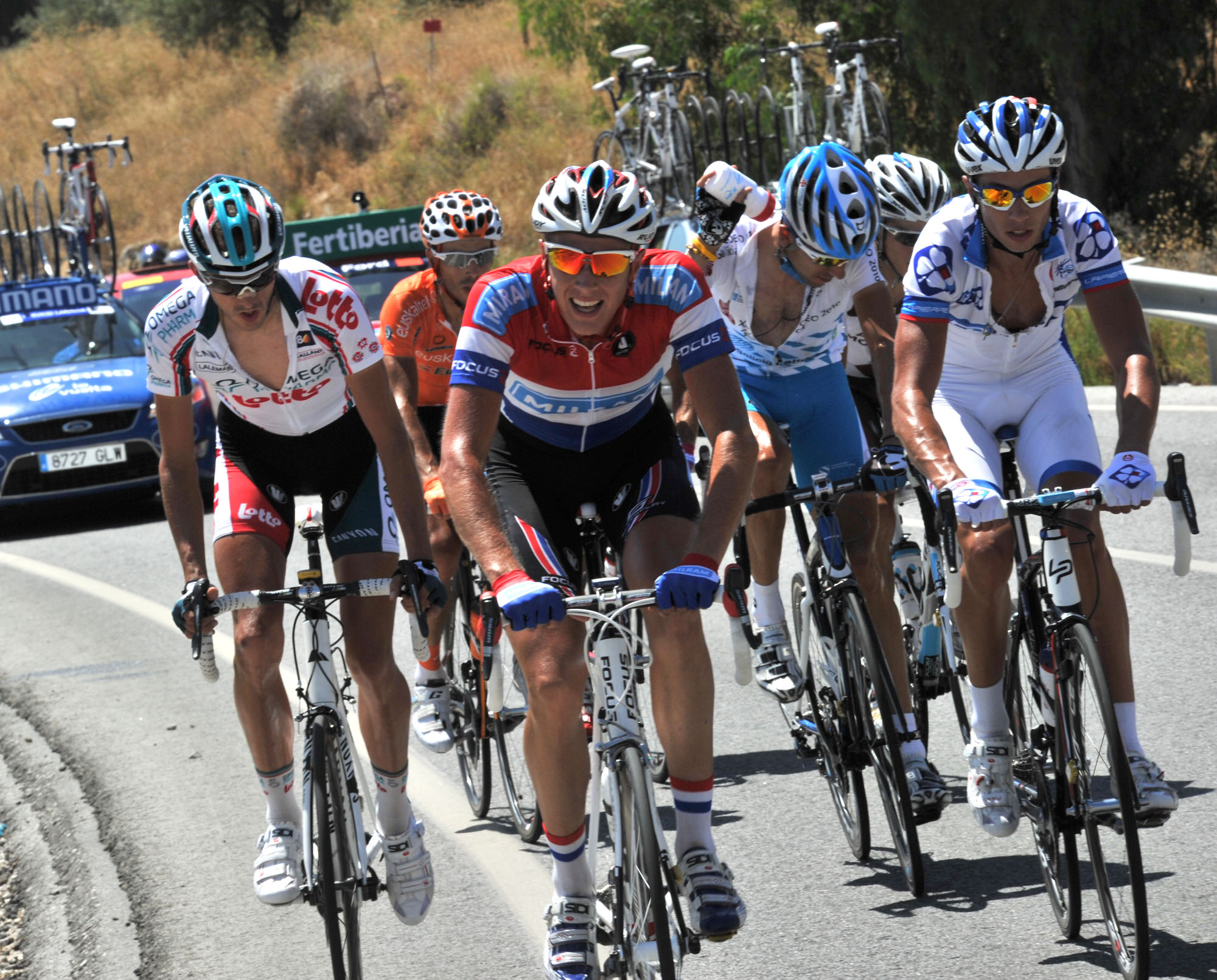 Niki Terpstra escape, Vuelta a Espana 2010, stage three
