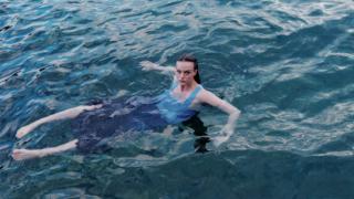 Zara dress underwater