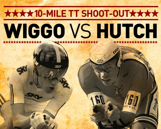 Bradley Wiggins versus Michael Hutchinson time trial