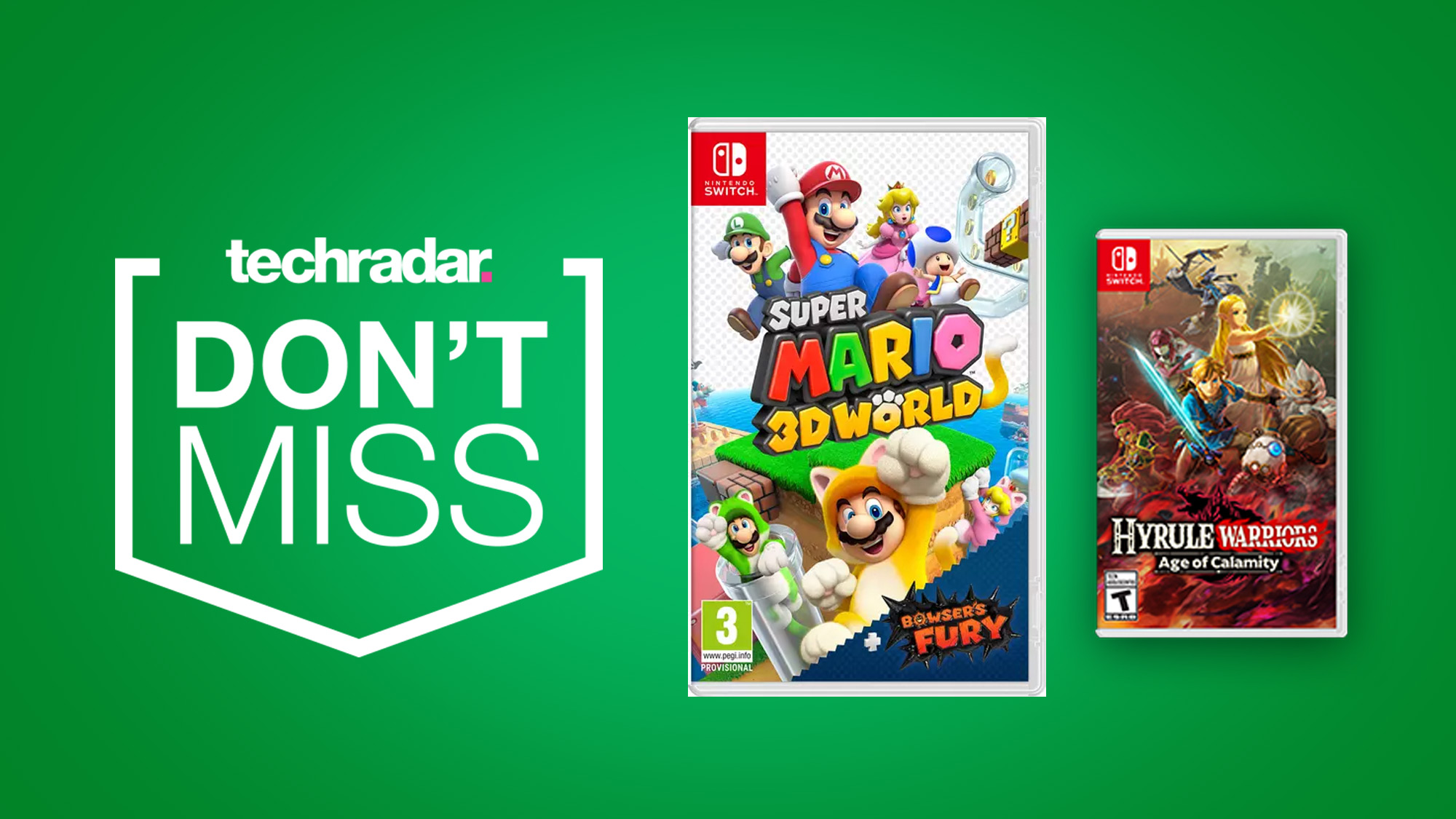Super Mario 3d World And Hyrule Warriors Age Of Calamity Already Discounted With Nintendo Switch Pre Order Deals Techradar