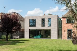 a large double storey extension to a modern property