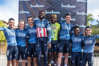 The L39ion of Los Angeles team at Tour de Murrieta: Isaiah Oliver, Lance Haidet, Justin Williams, Cory Williams, Tyler Williams, Dante Young, Eder Frayre