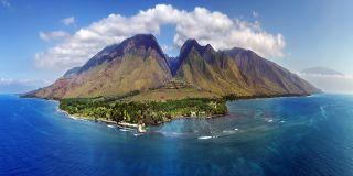 The island of Maui in Hawaii.