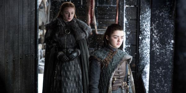 Game of Thrones Sansa Stark Sophie Turner Arya Stark Maisie Williams HBO