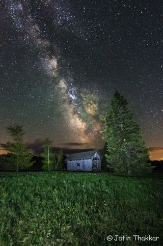 Milky Way Over Martin Bridge in Vermont