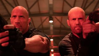 Dwayne Johnson and Jason Statham in Fast & Furious Presents: Hobbs & Shaw