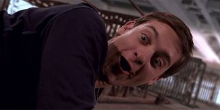 Tobey Maguire as Spider-Man in Sam Raimi 2002 film