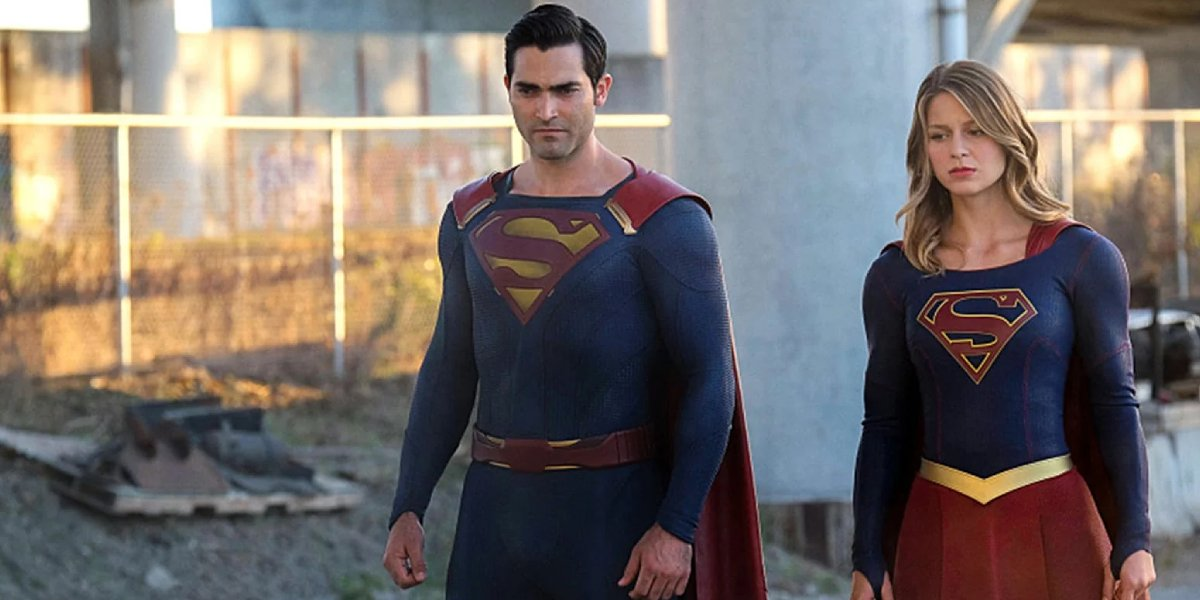 Tyler Hoechlin and Melissa Benoist on Supergirl