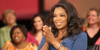 Oprah in the audience clapping
